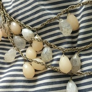 Anthropologie Jewelry - Anthropologie crystal and peach necklace